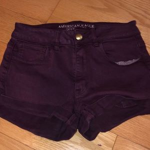 Hi rise American eagle shorts
